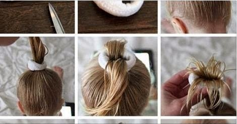 New Way Top Knot Bun Funny Idea Hairstyle Tutorial
