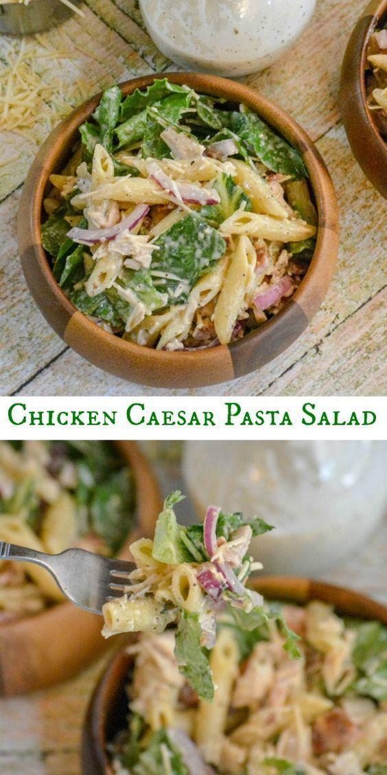 Amazing Chicken Caesar Pasta Salad