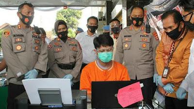 Konferensi Pers, Jajaran Polresta Bandar Lampung Ungkap Pelaku Peredaran Uang Palsu