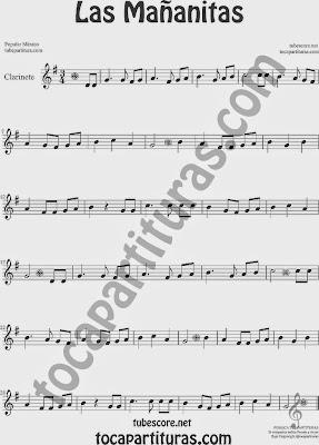 Las Mañanitas Partitura de Clarinete Sheet Music for Clarinet Music Score