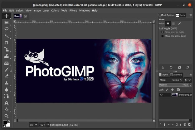 gimp μετατροπη σε photoshop shorcuts νεο περιβάλλον
