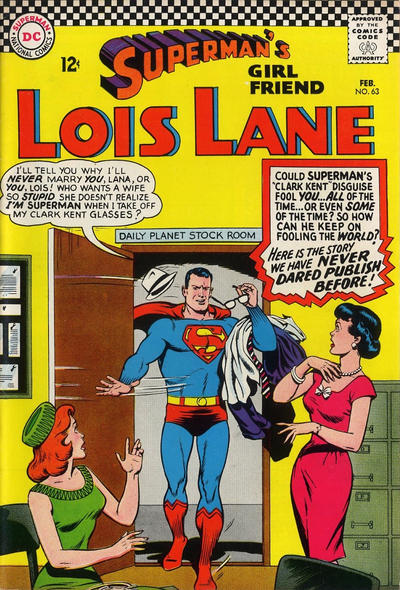 Episode #392 Part IV: Superman Family Comic Book Cover Dated February 1966: Superman's Girl Friend Lois Lane #63!