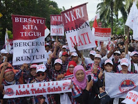 Gak Sopan, Massa Ormas Islam salawatan, pro-Ahok Malah Setel Lagu Slank