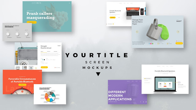 Modern Presentation Screen Mockup with Free PowerPoint Templates Slide 2