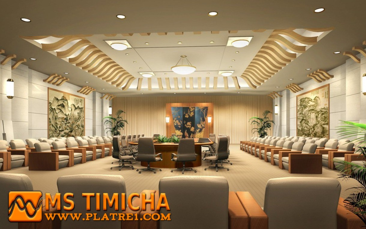 Plafond bureau ms timicha d coration marocaine for Design hotel quartier 65