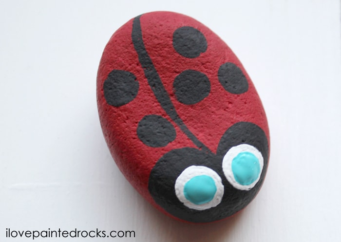 how to make a ladybug painted rock for kindness rocks project