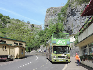 open topped bus tour up cheddar gorge