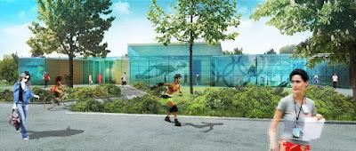 Perspective 3d piscine concours architecture