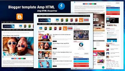 download template blogger amp ocean