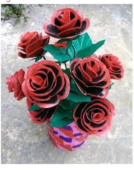 Bunga Cantik Dari Plastik Kresek