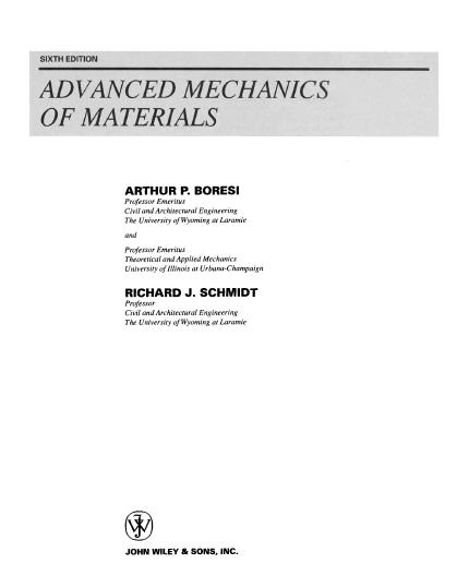 advanced mechanics of materials boresi pdf free download