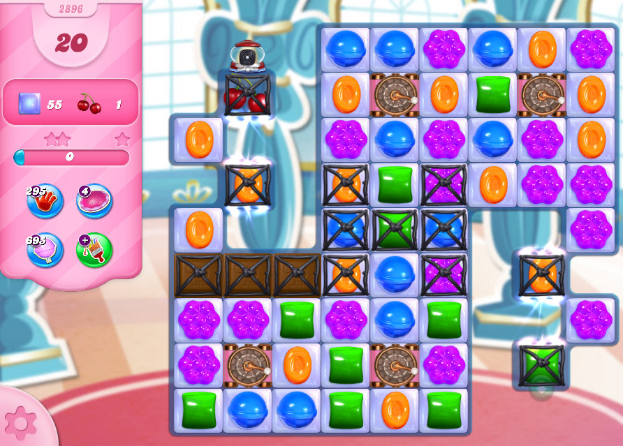 Candy Crush Saga level 2896