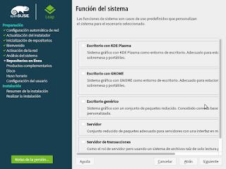 Entorno KDE instalación opensuse Cosvernauta