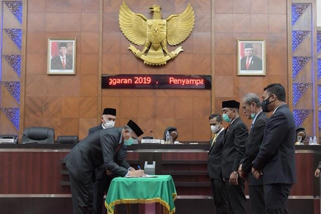 DPRA Setujui Raqan Tentang Pertanggungjawaban Pelaksanaan APBA 2019