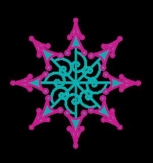 Copos de Nieve Tipo Mandalas.