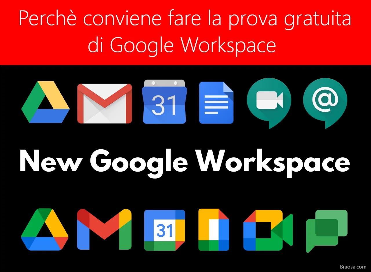 Google Workspace perchè conviene fare la prova gratuita