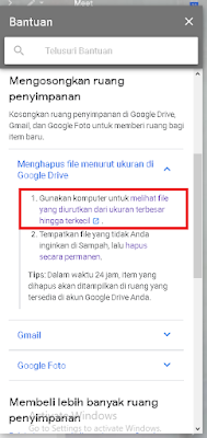 gambar kolom bantuan google