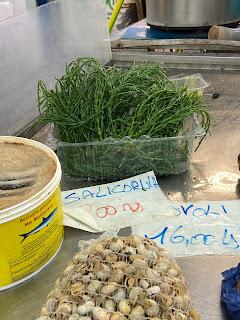 Salicornia in La Spezia market