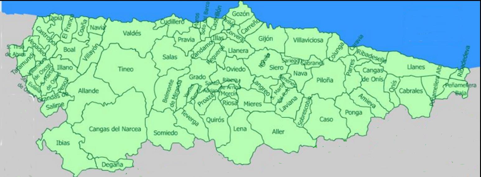Mapa De Asturias Fisico.Asturias Mapa Politico Mapa