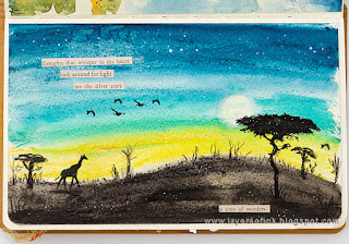 Layers of ink - African Night Watercolor by Anna-Karin Evaldsson