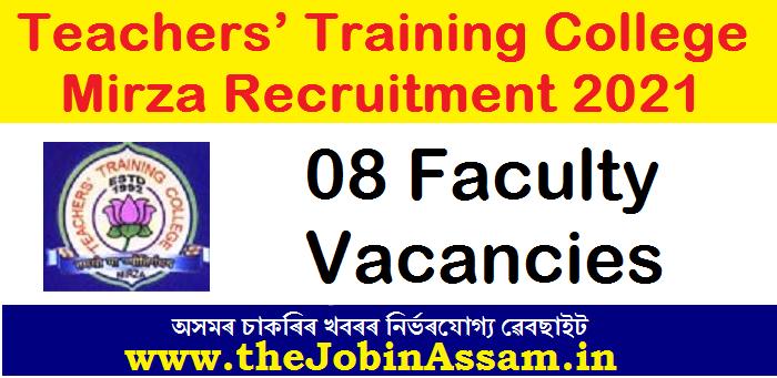 Teachers' Training College, Mirza Recruitment 2021