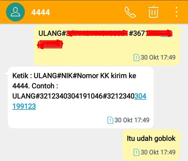 Jangan Registrasi Ulang Sim Card Pakai Nik Dan Nomor Kk
