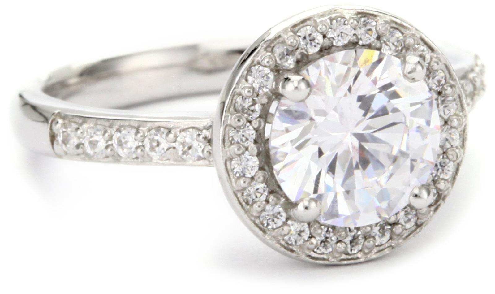 e402f3623 Myia Passiello Swarovski Zirconian Halo Ring | Elegant Rings