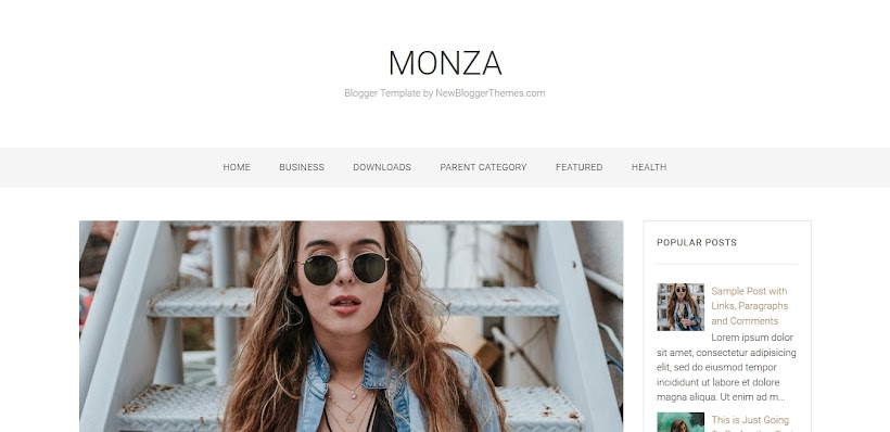Monza Free Blogger Template