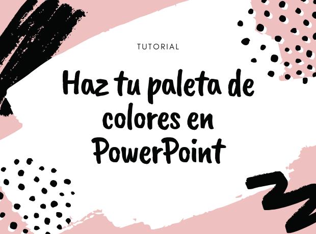 tutorial, powerpoint, paleta, colores, fotografía