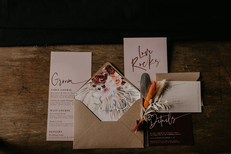 surrey wedding photographer stationery wedding invitations invites menus signage