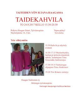 Taiteiden yön taidekahvila Haagassa to 24.8.2017