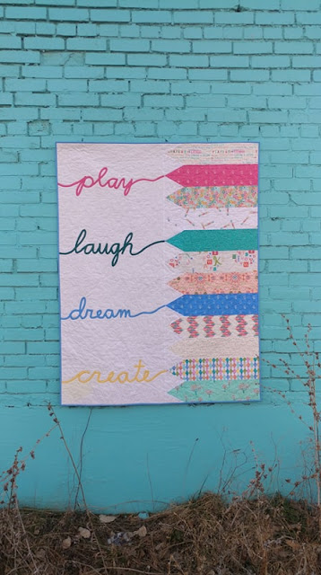 Play Laugh Dream Create bias tape applique quilt