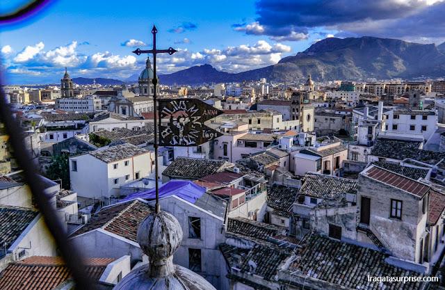 Palermo, Sicília, vita da cúpula da Igreja do Santíssimo Salvador