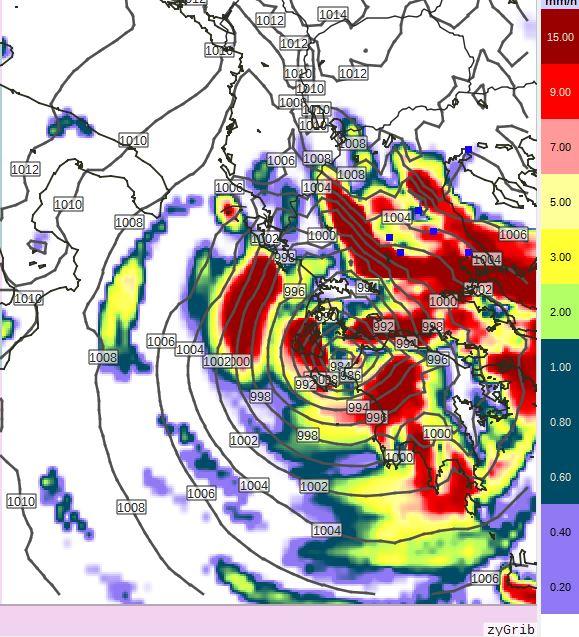 1 - Πρόγνωση Ελλάδας-Θεσσαλίας 17-18/9/2020 (+χάρτης βροχής)