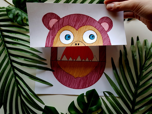 Asia Gwis - W świecie małp - Nasza Księgarnia - książeczki dla dzieci - recenzja - małpka z papieru - małpka diy - paper monkey - monkey kids crafts