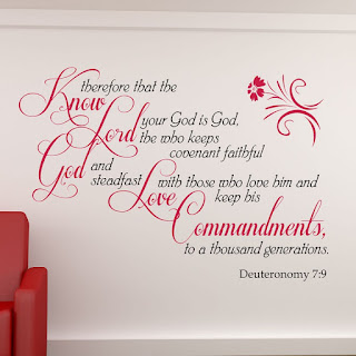 The Lord your God is God; he is the faithful God, keeping his covenant of love to a thousand generations of those who love him and keep his commands.