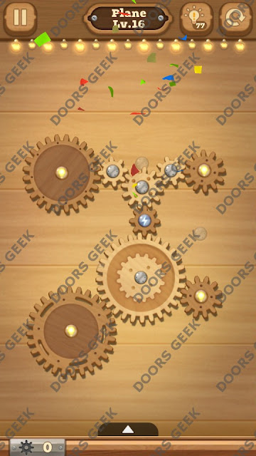 Fix it: Gear Puzzle [Plane] Level 16 Solution, Cheats, Walkthrough for Android, iPhone, iPad and iPod