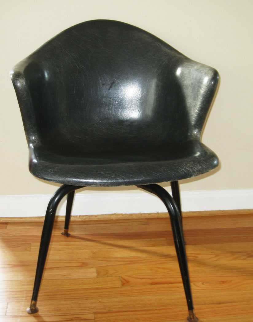 Gotcha Modern!: 1950s Fiberglass Swivel Bucket Chair