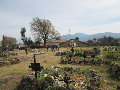 Cementery of Pacanda Island at Lake Patzcuaro