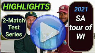 South Africa tour of West Indies 2-Match Test Series 2021