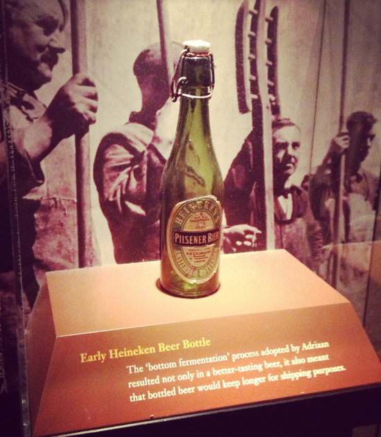 Early Heineken beer bottle