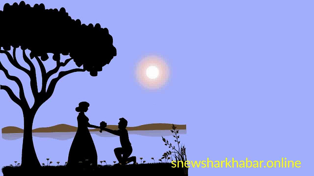 Romantic images of couple in love