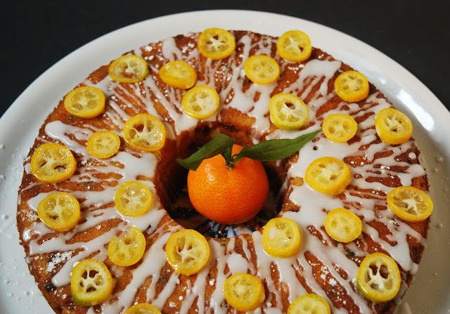 Gâteau clémentines kumquat raisins secs