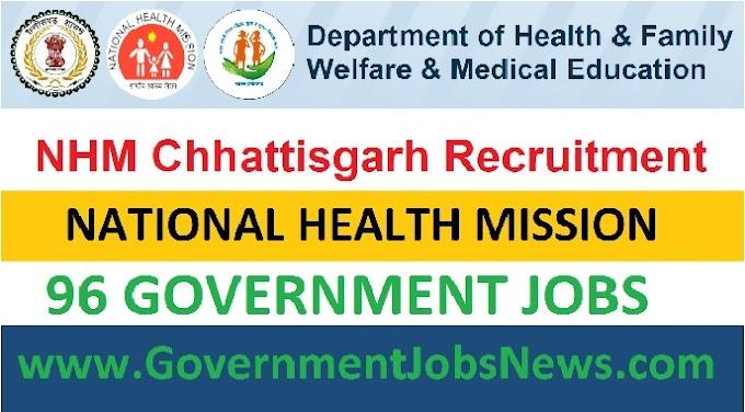 National Health Mission Recruitment - Chhattisgarh Jobs 2018