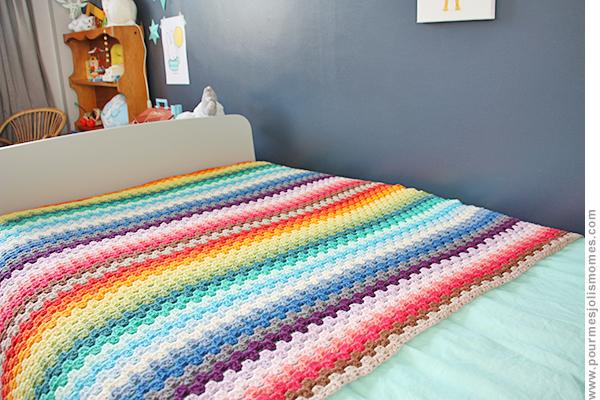 La couverture Rainbow au crochet (DIY) | pour mes jolis mômes, mais pas que...