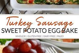 Sweet Potato Turkey Sausage Egg Bake