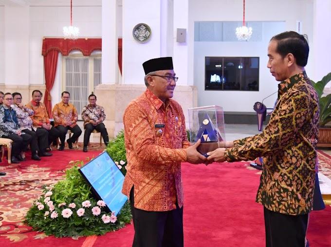 Raih WTP Lima Kali Berturut-Turut, Walikota Dapat Penghargaan Dari Presiden