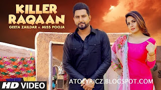 Geeta Zaildar & Miss Pooja - Killer Raqaan Lyrics