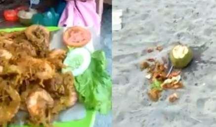 Viral Wisatawan Pantai Jono Buang Makanan Lantaran Kaget Dengan Harga Sepiring Udang