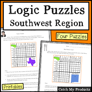 Logic puzzles about Southwest Region